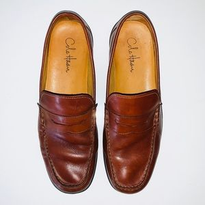 MEN'S COLE HAAN BROWN LEATHER LOAFERS SIZE 11